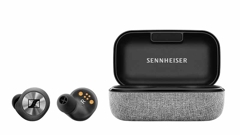 True Wireless, Sennheiser, draadloze oortjes, draagbare audio-oplossing, noise cancellation, transparant hearing-technologie, in-ears, zweet-en spatwaterbestendig, touch interface, smart control