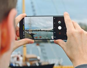 Smartphone groothoekfoto