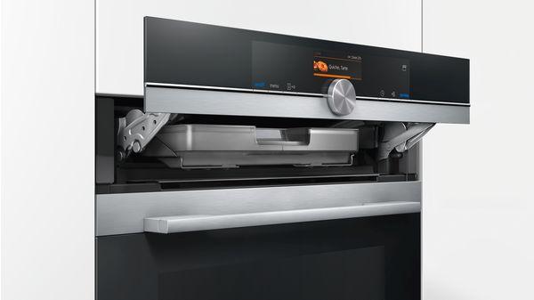 Siemens, HS636GDS1, inbouwoven, fullsteafunctie, roastingsensor, pulsesteam-instelling, touchdisplay, verwarmingsstanden