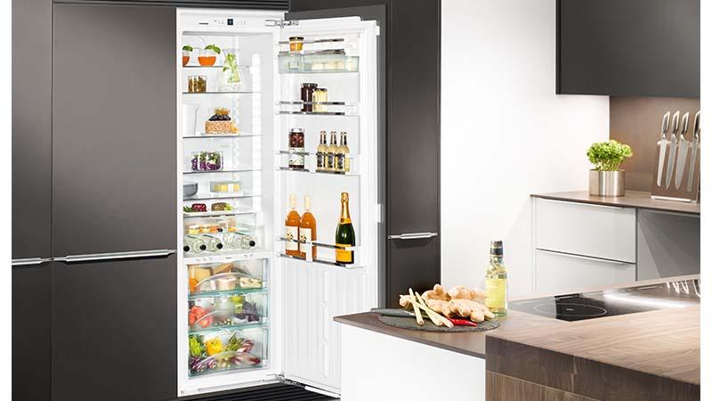 Liebherr, zuinige koelkasten, softsystem-sluitingssysteem, ruime koelkast, leszuilen, legplank, biofresh-systeem, luchtvochtigheidsregeling