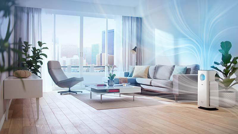 Philips, luchtreinigers, grote ruimtes, reinigt, stof, allergenen, lichtring, app, luchtkwaliteit, CADR, automatische modi, automatische allergeenmodus, slimme feedback