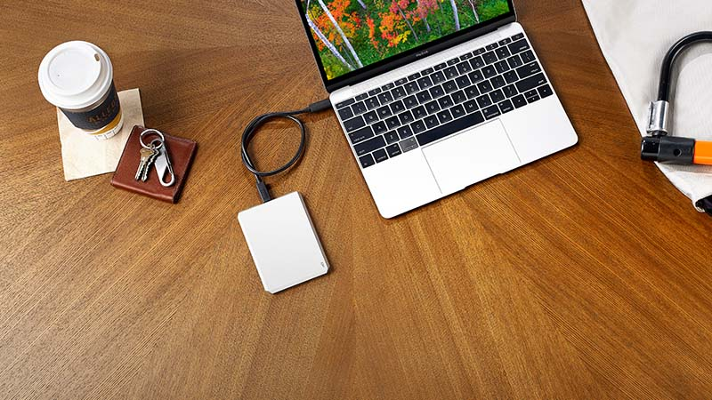 Lacie, mobile drive, harde schijf, opslaggeheugen 2TB, USB-C, USB 3.0 aansluiting