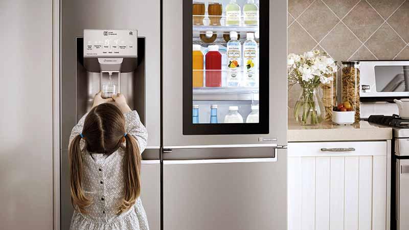 LG instaview, door-in-door, LED, frigo