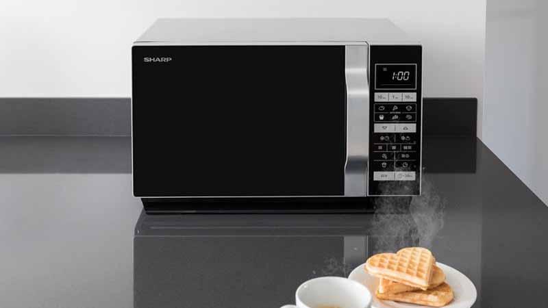 Sharp R 870S micro-ondes combiné, Flat Tray Cooking, 25 litres, 15 programmes de cuisson automatiques