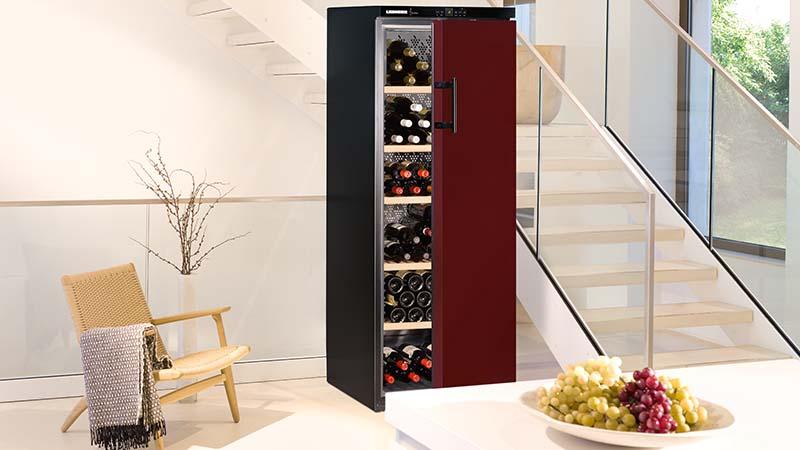 Liebherr, armoire à vin, vinothek, température précis, protection contre les vibrations, filtre freshair, 200 bouteilles