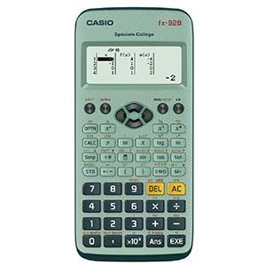 Casio, fx-92B, Spéciale Collège, écran LCD haute résolution, fonctions standard, calculatrice, fractions, trigonométriques