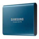 Samsung, T5, disque dur portable, compact, capacité de stockage impressionnante, pc portables, smartphones, consoles de jeux