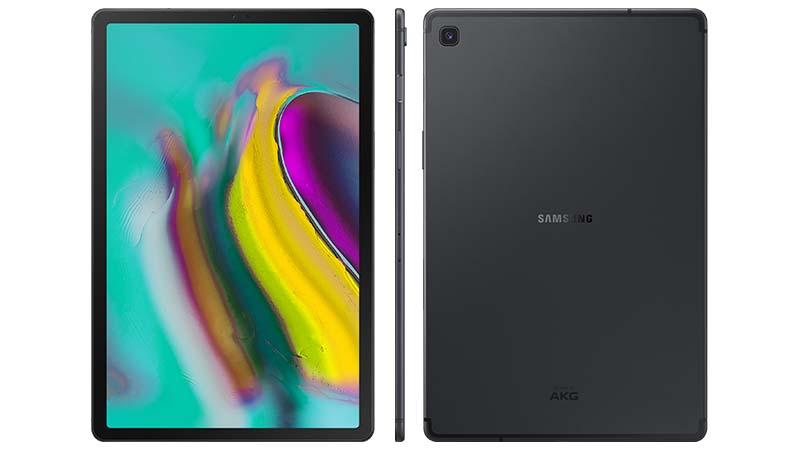 Samsung, galaxy tab 5se, tablette, pc portable, batterie, peine au poids, or, argent, noir, reconnaissance vocale Bixby