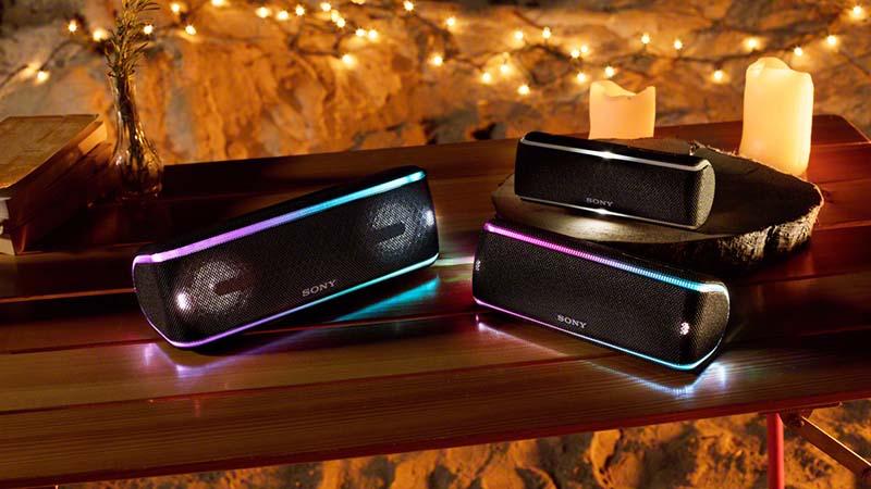 Sony, SRS-XB41, extra bass, live sound-modus, audiotechnologie, driedimensionale live muziekervaring, feestverlichting